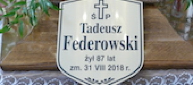 Pożegnanie Tadeusza Federowskiego