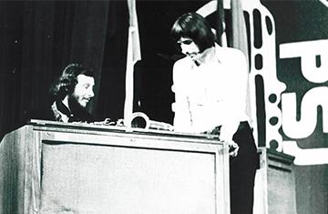 Czesław Niemen i Jacek Mikuła (fot. z archiwum M. Gaszyńskiego)