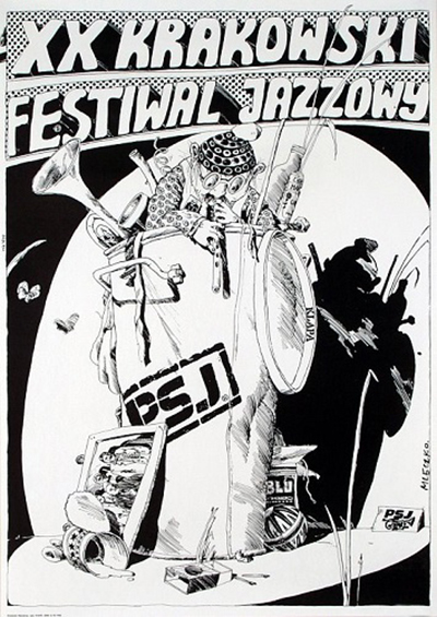 XX Krakowski Festiwal Jazzowy (1975) - proj. A. Mleczko
