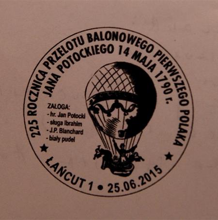 Projekt stempla poczty balonowej  (fot. z archiwum J. Reicha)